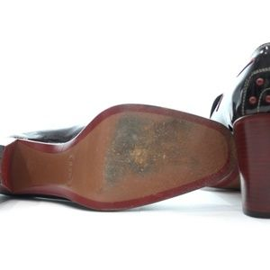 Tod's Shoes - TODS BURGUNDY PATENT LEATHER PUMP SIZE 8.5